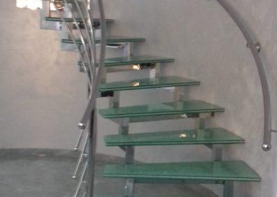 samonosece stepenice inox-staklo
