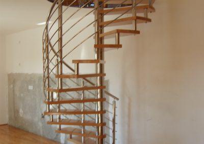 spiralne stepenice inox-drvo